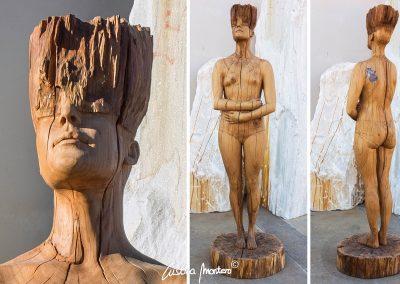 Feeling Emotions - escultura de gran tamaño en madera de roble