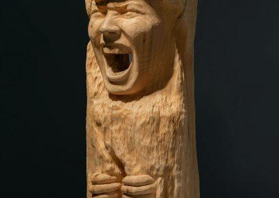 Alliberament - escultura en madera de cedro